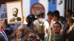 Hay una reunión política en Cuba almacen de metraje de vídeo