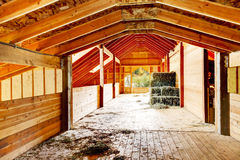Hay under covered roof at the farm barn in Washington State, US. Hay under covered roof at the farm barn in Washington State, Northwest, USA Stock Image