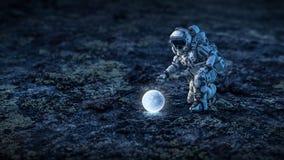 Hay vida en la luna Técnicas mixtas fotos de archivo