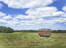Hay Wagon. A lone hay wagon new Ballston Lake, New York Stock Photos