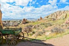 Hay Wagon In Cappadocia Fotografia de Stock Royalty Free