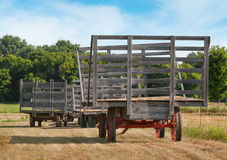 Hay Wagon Lineup Stock Images