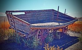 Hay Wagon. This Hay wagon was on a old farm in north central Oregon on a old  Homestead Royalty Free Stock Photos