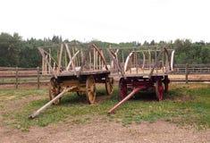 Hay Wagons Royalty Free Stock Image