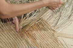 Hay weaving ( Taiwan traditional handicraft ). Stock Photos