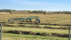 Hay Windrow Machine Royalty Free Stock Photos