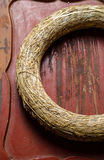 Hay wreath Royalty Free Stock Images