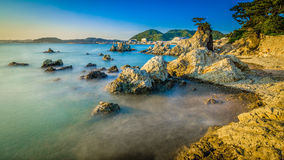 Hayama-Korallenstrand Lizenzfreie Stockfotos
