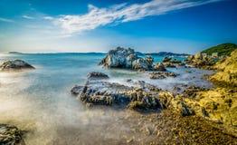 Hayama-Korallenstrand stockbilder