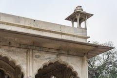 Hayat Bakhsh Bagh está en la parte de nordeste del complejo rojo del fuerte en Delhi, la India Foto de archivo