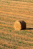 Haybale no por do sol Imagem de Stock Royalty Free