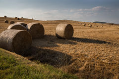 Haybales on a hill Royalty Free Stock Photography