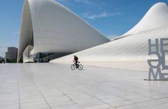 Haydar Aliyev Centre a conçu par l'architecte Zaha Hadid image libre de droits