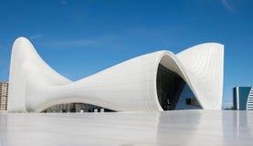 Haydar Aliyev Centre designed by architect Zaha Hadid. BAKU, AZERBAIJAN - MAY 11, 2016: HEYDAR ALIYEV CENTER MUSEUM: Haydar Aliyev Centre designed by architect Royalty Free Stock Photo