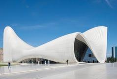 Haydar Aliyev Centre projetou pelo arquiteto Zaha Hadid Fotos de Stock Royalty Free