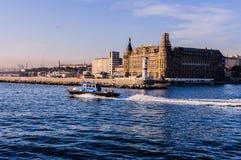 Haydarpasa历史火车站-伊斯坦布尔 免版税库存照片