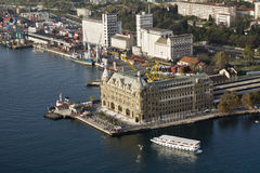 Haydarpasa. Train Station in the Asian side of Istanbul Stock Image