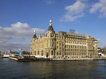 Haydarpasa central station building Istanbul - Turkey Royalty Free Stock Photo