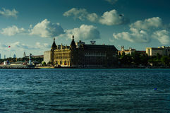 Haydarpasa Historical Train Station Royalty Free Stock Photography