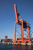 Haydarpasa kommersiella skeppsdocka- och behållarekranar Royaltyfri Bild