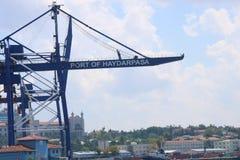 Haydarpasa port w Istanbuł mieście obrazy stock