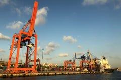 Haydarpasa port w Istanbuł, Turcja Obrazy Stock
