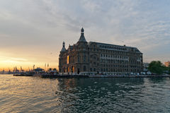 Haydarpasa railway station in istanbul. Stock Photo