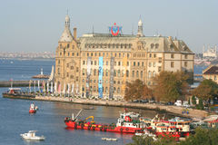 Haydarpasa railway terminal Stock Photos