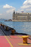 Haydarpasa Seaport and Train Station. ISTANBUL, TURKEY - MAY 3, 2014: Haydarpasa Seaport and Train Station in Kadikoy Istanbul. Historical train station building Royalty Free Stock Photography