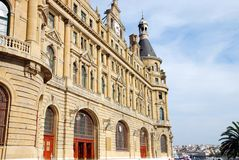 Haydarpasa Train Station. Haydarpasa Railway Station Building in Istanbul, turkey Royalty Free Stock Images