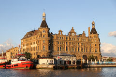 Haydarpasa Train Station in Istanbul City Royalty Free Stock Photo