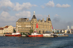 Haydarpasa Train Station in Istanbul City Royalty Free Stock Photo
