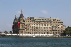 Haydarpasa Train Station in Istanbul City Stock Images
