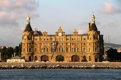 Haydarpasa Train Station in Istanbul, Turkey Stock Photography