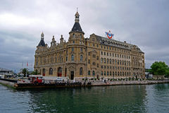 Haydarpasa train station. Old famous train station which is located in istanbul, turkey royalty free stock photo
