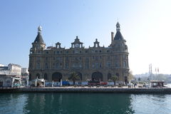 Haydarpasa train station. Old traditional train station is located near to Kadikoy Stock Image