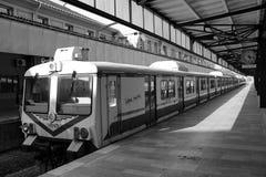 Haydarpasa Train Station Passenger Bay. Historical Haydarpasa Train Station Passenger Bay Black and White Stock Image