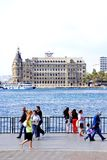 Haydarpasa Train Station and people. In Istanbul, Turkey Stock Photos