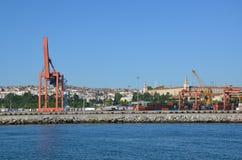 Haydarpasha ładunku port Obraz Royalty Free