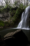 Hayden Falls. Located along Hayden Run Creek, Hayden Falls is approximately 35 feet high and is accessible from a boardwalk Royalty Free Stock Image