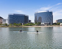 A Hayden Ferry Lakeside Kayak Race, Tempe Royalty Free Stock Images