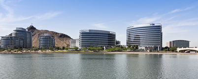 Hayden Ferry Lakeside Panorama View, Tempe royalty-vrije stock foto