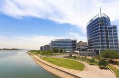 Hayden Ferry Lakeside Panorama View, Tempe stock afbeelding