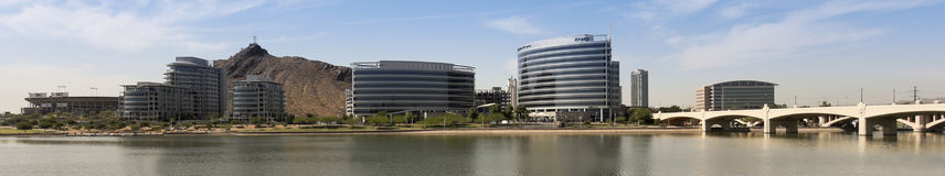A Hayden Ferry Lakeside Panorama View, Tempe Stock Photography