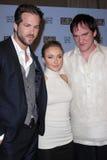 Hayden Panettiere, Quentin Tarantino, Ryan Reynolds lizenzfreies stockbild