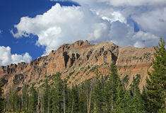 Hayden Peak in the Uinta mountains. Amazing Uinta Mountains, Utah, USA Royalty Free Stock Images