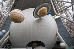 The Hayden Planetarium in the Rose Center for Earth and Space, New York royalty free stock photos