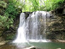 Hayden Run Falls Waterfall - centrala Ohio Royaltyfri Fotografi