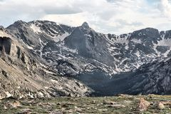 Hayden Spire peak. Seen from Forest Canyon Overlook in Rocky Mountains, Colorado royalty free stock image