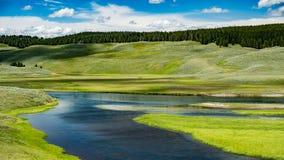 Hayden Valley in Yellowstone Stock Photo